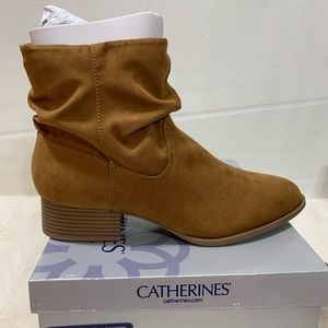 Catherine's Ortholite Slouch Bootie in Cognac